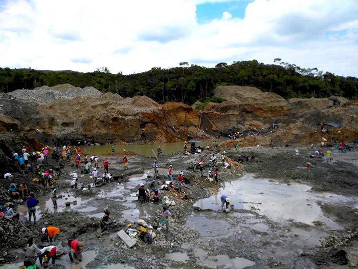 Extracción minera.