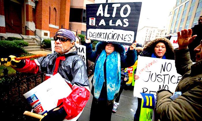 Marcha de inmigrantes en Estados Unidos