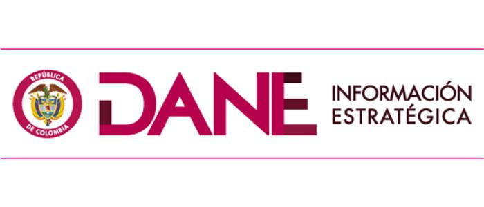 Logo del DANE.