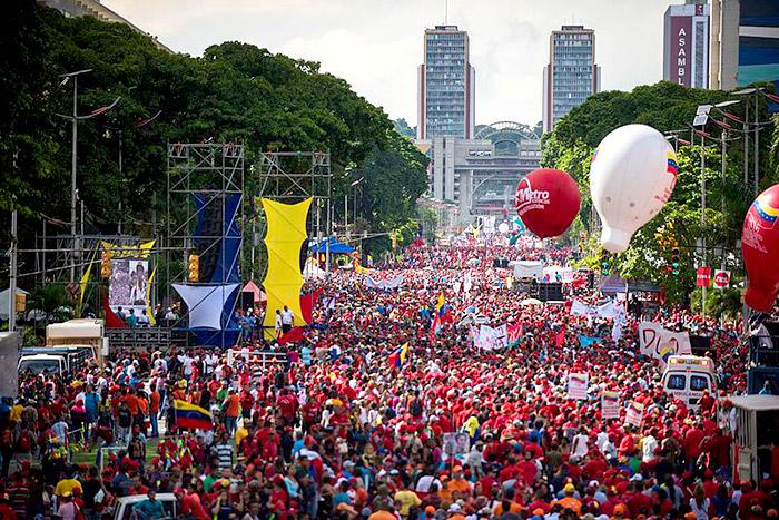 Marchas chavistas.