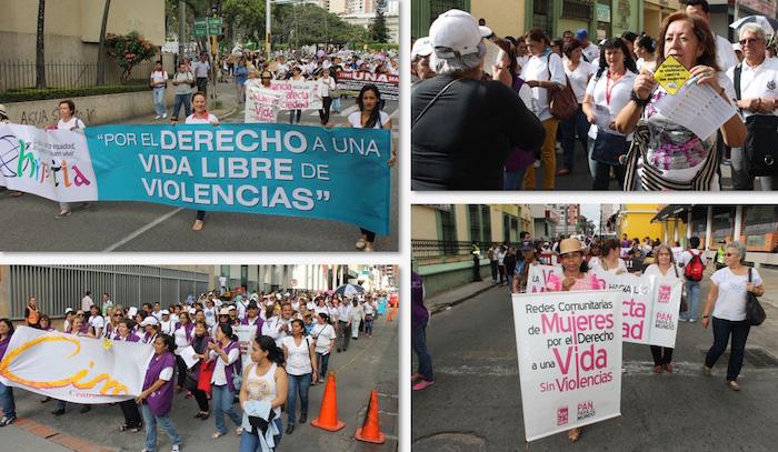 Marchas en el país en contra de la violencia hacia las mujeres.