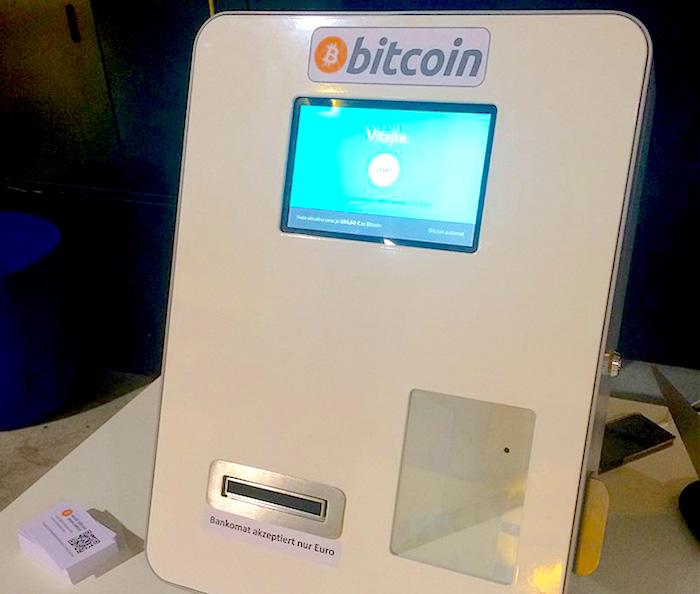 Cajero de Bitcoin.