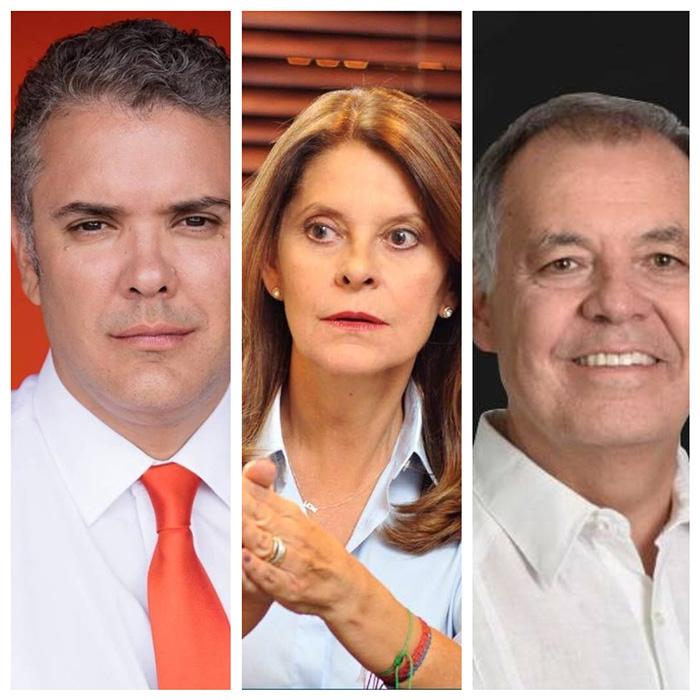 Candidatos de la derecha, Iván Duque, Marta Lucía Ramírez y Alejandro Ordóñez.