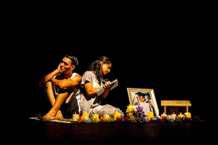 Obra de teatro en memoria a los líderes sociales asesinados.