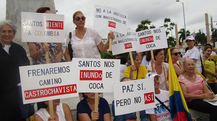 Campañas de opositores de los Acuerdos de Paz con las FARC.