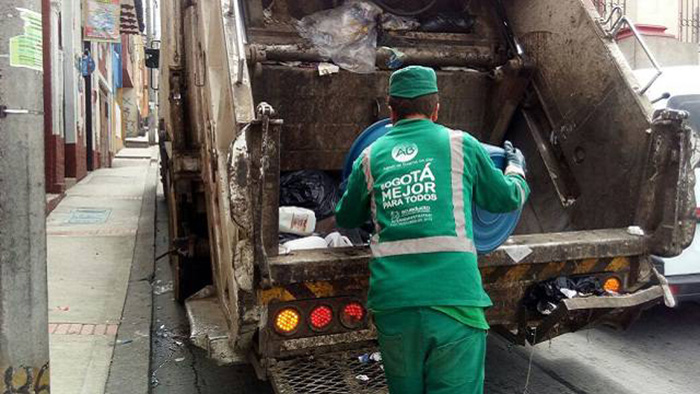Sistema de recolecciones de basura en Bogotá.