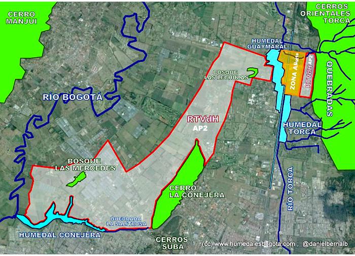 mapa Reserva Thomas Van der Hammen