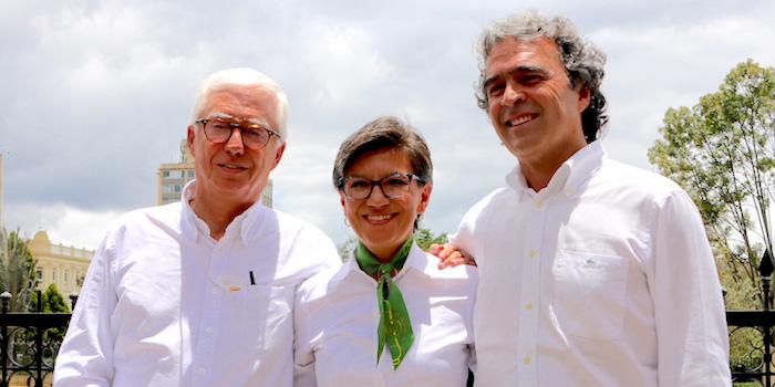 Coalición Colombia: Jorge Robledo, Claudia López y Sergio Fajardo.