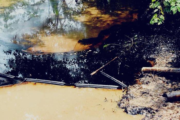 Derrame de petróleo en Barrancabermeja.