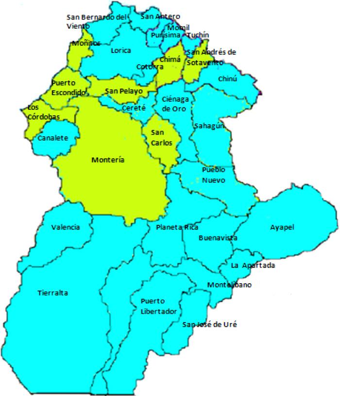 Mapa nivel de riesgo de fraude en Córdoba