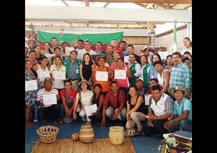 Miembros de la Comunidad Indígena Zenú