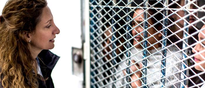 Mujeres en detención.