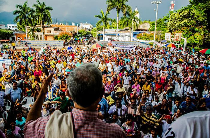 Manifestación de Uribistas.