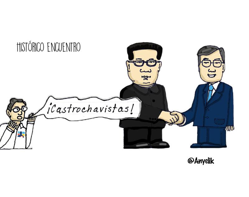 Historico encuentro de las dos coreas