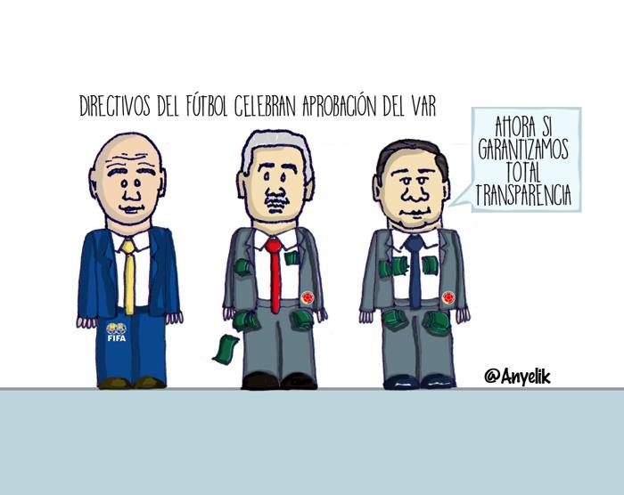 Celebrando la aprobación del Var en el Mundial de fútbol