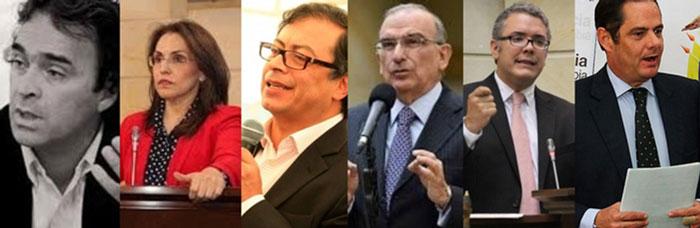 Candidatos y Candidata presidenciales.
