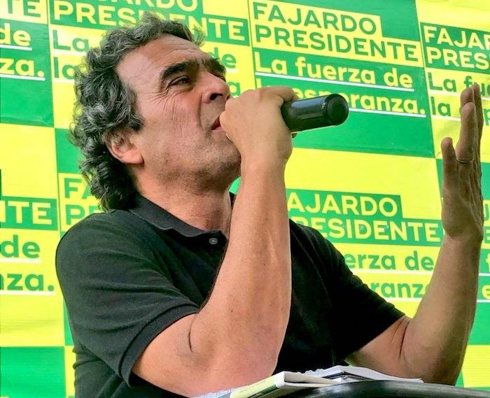 Candidato presidencial, Sergio Fajardo.