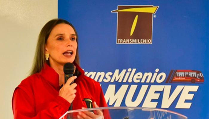 Gerente General de Transmilenio, María Consuelo Araújo.