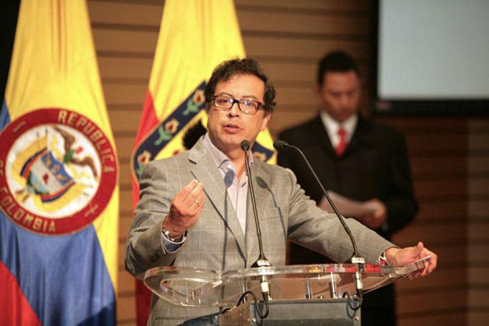 Candidato Presidencial, Gustavo Petro.