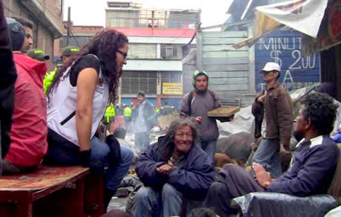 Habitantes de Calle en la ciudad de Bogotá.