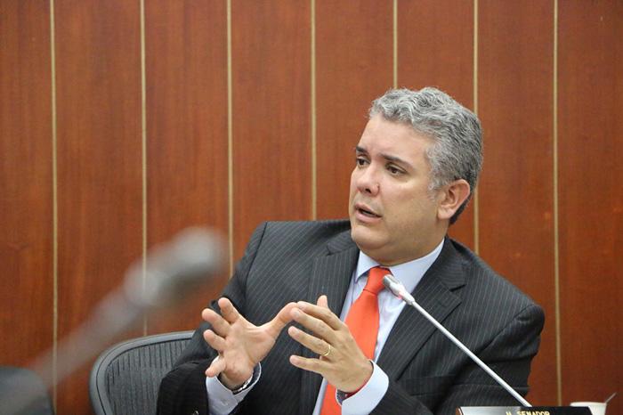 Candidato Iván Duque.