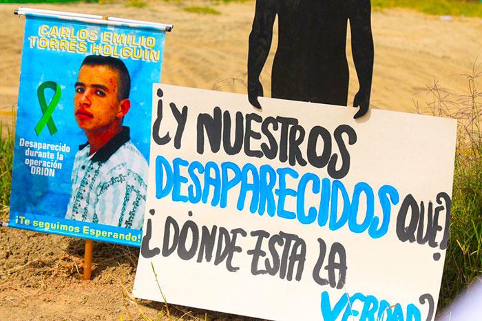 Acto simbólico en memoria de las víctimas de la Operación Orión.