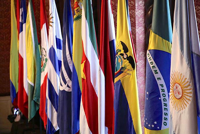 Países miembros de UNASUR.
