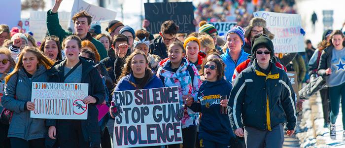 Participantes de la Marcha por la Vida en Estados Unidos