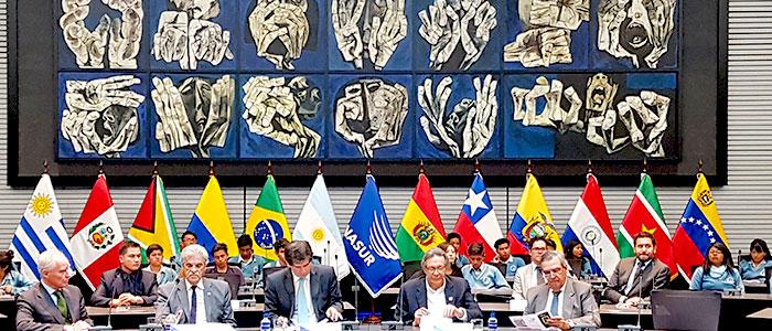 Reunión de la UNASUR en 2017.