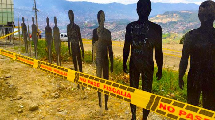 Campaña por las víctimas de la Comuna 13 en Medellín