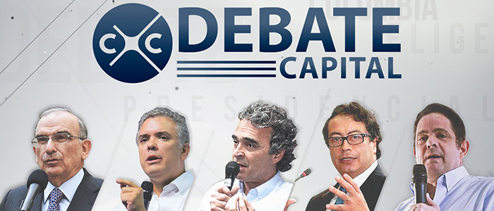 Debate presidencial por parte del Canal Capital.