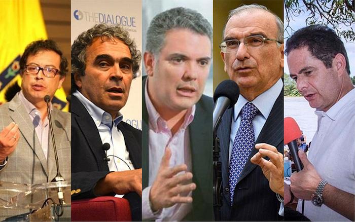 Candidatos presidenciales 2018.