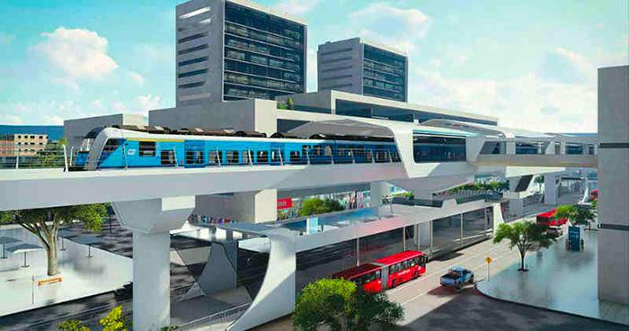 Propuesta del metro elevado en Bogotá.