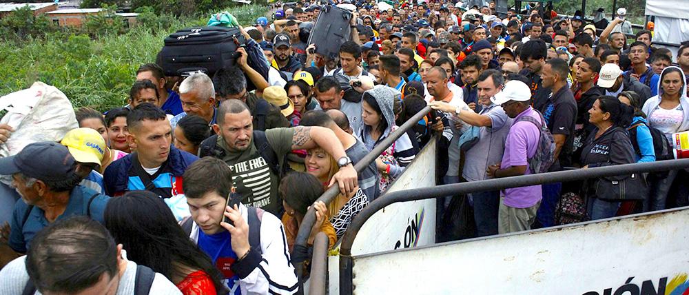 Ingreso de venezolanos a Colombia.