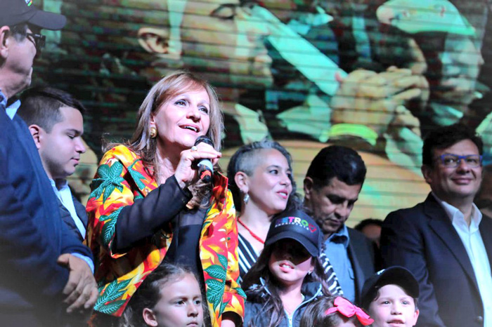 Ex candidata a la vicepresidencia Ángela Robledo .