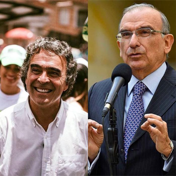 Ex-candidatos presidenciales, Sergio Fajardo y Humberto de la Calle.