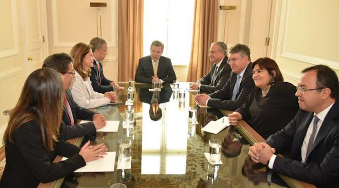 Gabinete de gobierno de Juan Manuel Santos con Iván Duque y Marta Lucía Ramírez.