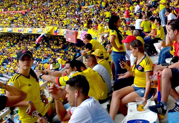 Hinchada de la selección de Colombia
