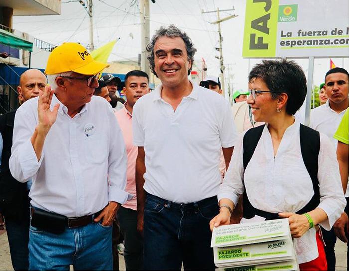 Sergio Fajardo, Jorge Enrique Robledo y Claudia López.