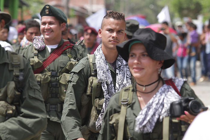 Ex-miembros de las FARC.