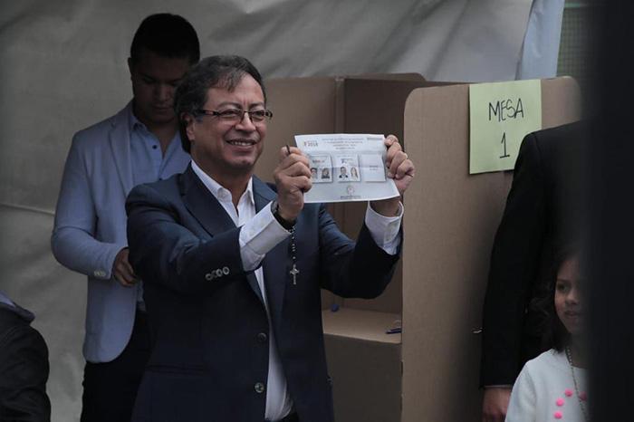 Gustavo Petro en elecciones presidenciales.