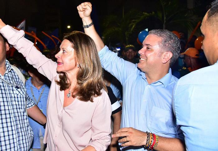 Fórmula presidencial Iván Duque y Marta Lucía Ramírez.