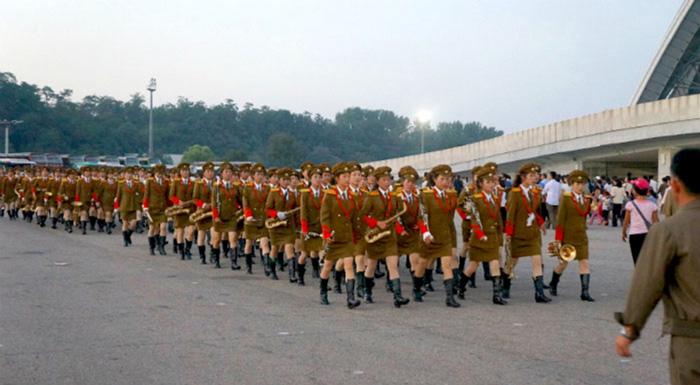 Marcha en Corea del Norte.
