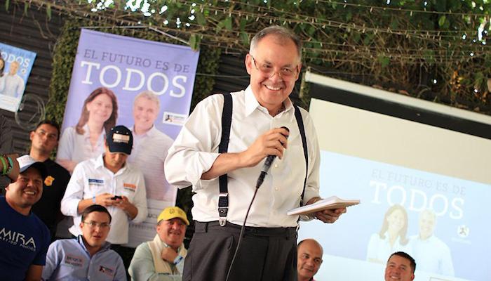 Alejandro Ordoñez en campaña presidencial de Iván Duque.