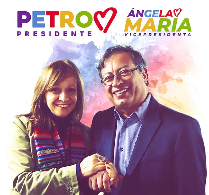 Fórmula presidencial de Gustavo Petro y Ángela María Robledo.