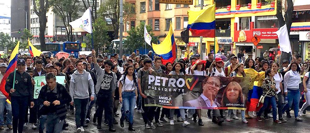 "Simpatizantes de la ""Colombia Humana""."