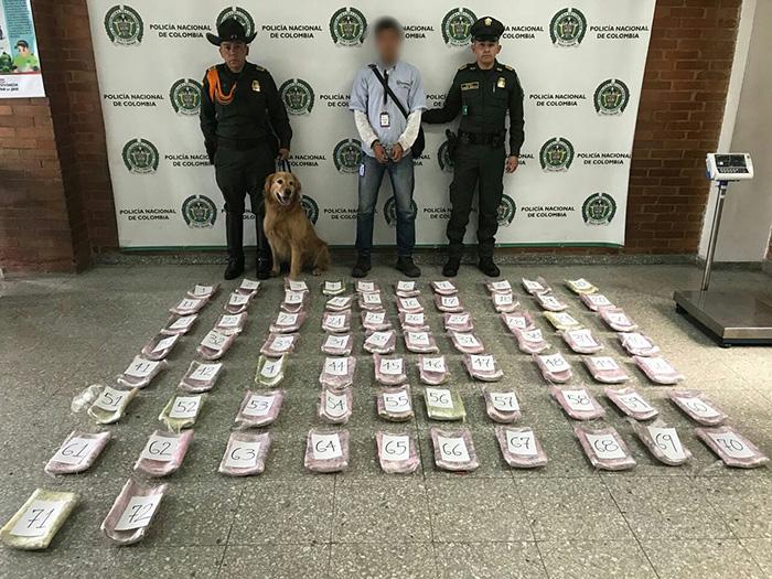 Captura de traficante de drogas.