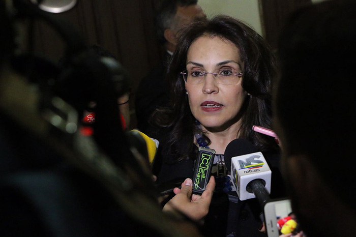 Ex candidata a la presidencia por el partido MIRA Vivian Morales.