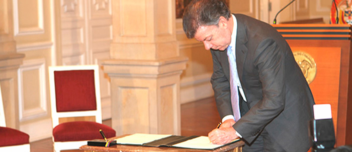 Presidente Juan Manuel Santo.