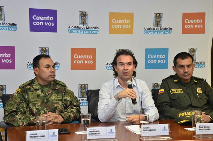 Alcalde de Medellín Federico Gutiérrez sobre la seguridad